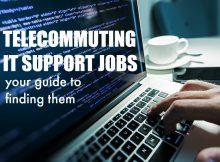 telecommuting IT support jobs